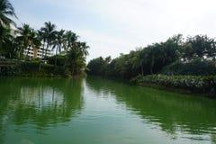 green lake fotografia stock