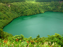 Green lake in azores islands stock photography