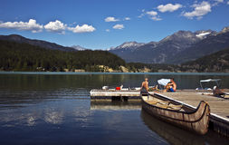 Green Lake, BC, Canada. Beautiful Green Lake located near Whistler, BC, Canada Royalty Free Stock Photo