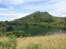 Green lake on a beautiful hill Royalty Free Stock Photos