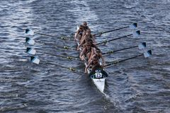 Green Lake Crew races in the Head of Charles Stock Photos