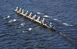 Green Lake Crew races in the Head of Charles Royalty Free Stock Photos