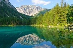 Green lake (Grüner see) in Bruck an der Mur, Austria Stock Image