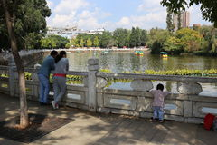 The Green Lake in Kunming, China Royalty Free Stock Photos