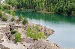Green Lake. Lake in Konduki, Tula district Royalty Free Stock Images
