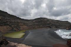 Green Lake Lanzarote Stock Photo