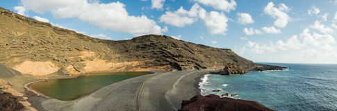The green lake in Lanzarote Royalty Free Stock Photo