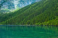Green lake and mountain landscape Royalty Free Stock Photography