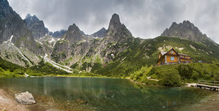 Green lake in the mountains Stock Photography