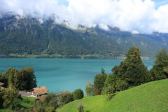 Green lake near Interlaken Royalty Free Stock Image