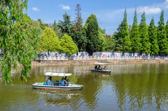 Green Lake Park Also Known As Cui Hu Park Is One Of The Most Beautiful Parks In Kunming City. Stock Photos