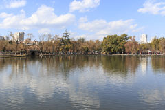 Green lake park in Kunming, Yunnan, the most popular place for leisure in the city Stock Photo