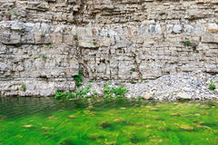 Green lake on the river Ashe. Green pond waterfall Shapsugs in the upper reaches of the river Ashe. The Area Of The Big Sochi. Russia Royalty Free Stock Photography