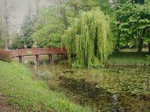 Green lake. It& x27;s a lake in Varaždin, Croatia stock photography