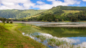 Green Lake in Sao Miguel, Azores Stock Images
