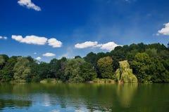 Green lake shore Royalty Free Stock Photography