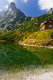 Green lake in Tatra Mountains Royalty Free Stock Photo