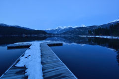 Green Lake and Wedge Mountain in Whistler Stock Photography