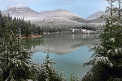 Green lake, Whistler Royalty Free Stock Photography
