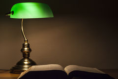Green Lamp and Bible royalty free stock photos