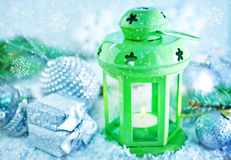 Green lamp Stock Images