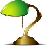 Green Lamp. Green desk lamp. Vector illustration Stock Photography