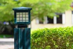 Green lamp in garden Royalty Free Stock Photos