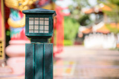 Green lamp in joss house Stock Photos