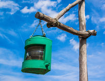 Green lamp Royalty Free Stock Image