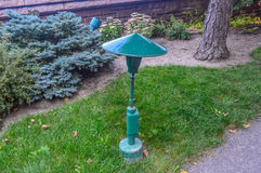 Green lamp saint joseph, Montreal Stock Photography