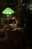 Green lamp shade Stock Photo