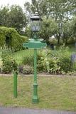 Green Lamppost Stock Photo