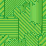 Green land game seamless pattern Stock Images