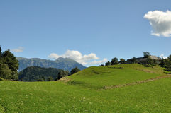 Green land europe. Gren land in top of mountain Royalty Free Stock Photos