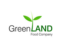 Green Land Logo. For food and constructions Companies Stock Images