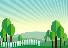 Green land mountain vector background Royalty Free Stock Image