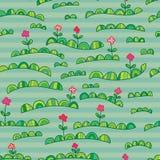 Green land seamless pattern Stock Photography