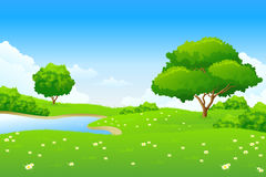 Green landscape Royalty Free Stock Photo