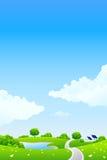 Green landscape royalty free stock photos