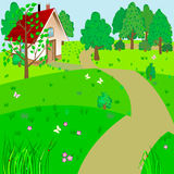 Green landscape. Royalty Free Stock Images
