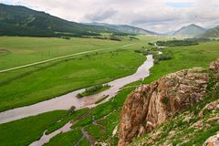 Green landscape of Altay. Stock Photos