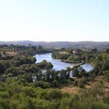 Green landscape around Toledo. Beautyfull Spain. Royalty Free Stock Photo