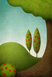 Green landscape background. Stock Image