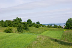 Green Landscape - Fields By Wigry Lake Stock Images