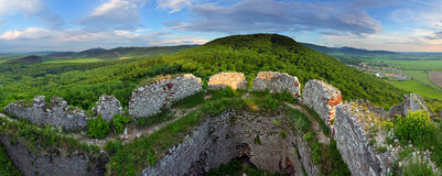 Green landscape with fortification Royalty Free Stock Photo
