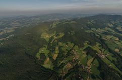 green landscape from high above Royalty Free Stock Image