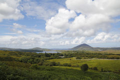 Green landscape in Ireland. Connemara national park Royalty Free Stock Photos