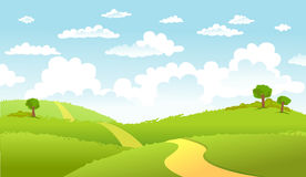 Green Landscape and the road Royalty Free Stock Photography