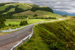 Green landscape on top of Sao Miguel Stock Photos