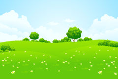 Green Landscape with trees Stock Image